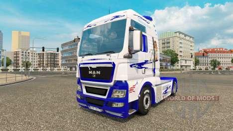 American Dream-skin für MAN-LKW für Euro Truck Simulator 2