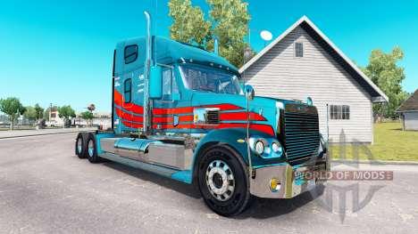 La peau sur le camion Freightliner Coronado pour American Truck Simulator