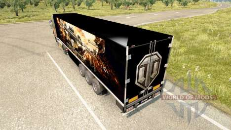 Haut World of Tanks auf dem trailer für Euro Truck Simulator 2