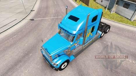 La peau A&R sur le camion Freightliner Coronado pour American Truck Simulator