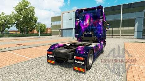 La peau de Bureau oGrafhic sur tracteur Scania pour Euro Truck Simulator 2