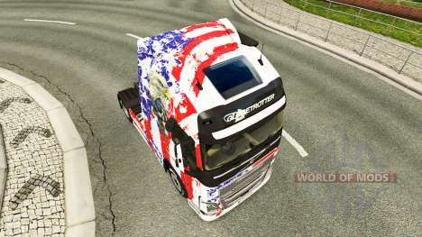 USA-skin für den Volvo truck für Euro Truck Simulator 2