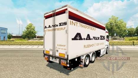 De la peau A. A. van ES pour tracteur Scania Tan pour Euro Truck Simulator 2