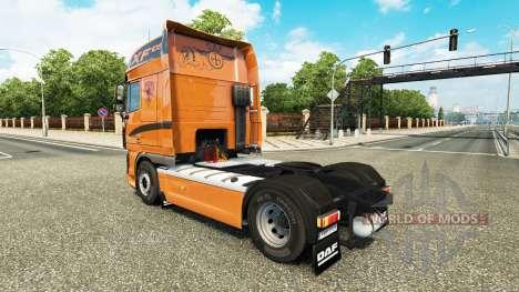 La peau sur le tracteur DAF XF 105.510 pour Euro Truck Simulator 2