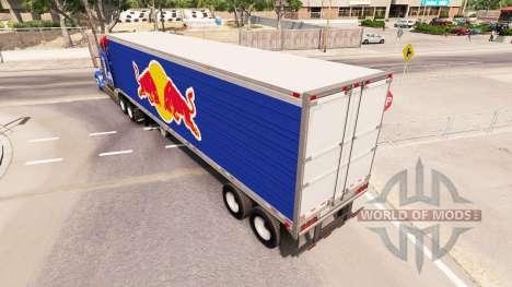 Haut Red Bull auf den Anhänger-der Kühlschrank für American Truck Simulator
