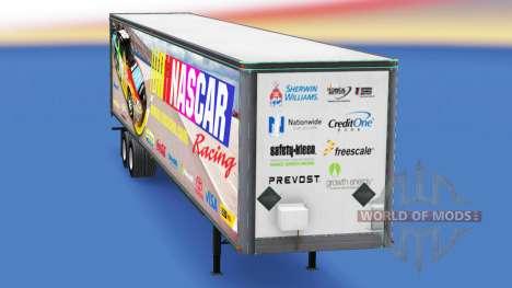 Haut auf NASCAR all-Metall-Anhänger für American Truck Simulator