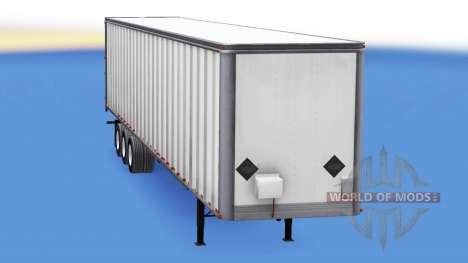 De tous les métaux trois essieux de la semi-remo pour American Truck Simulator