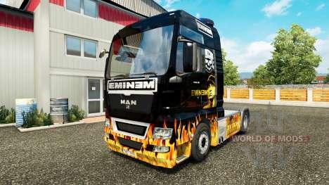 Eminem skin für MAN-LKW für Euro Truck Simulator 2