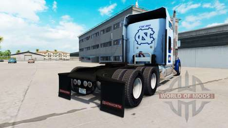 La peau UNC Tarheel sur le camion Kenworth W900 pour American Truck Simulator