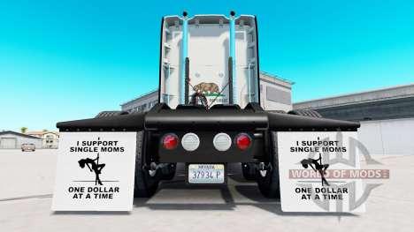 Kotflügel I Support Single Moms v1.5 für American Truck Simulator