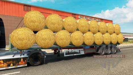 Die Auflieger-Plattform mit einer Belastung von  für Euro Truck Simulator 2
