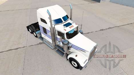 Haut Klassische Streifen auf der LKW-Kenworth W9 für American Truck Simulator