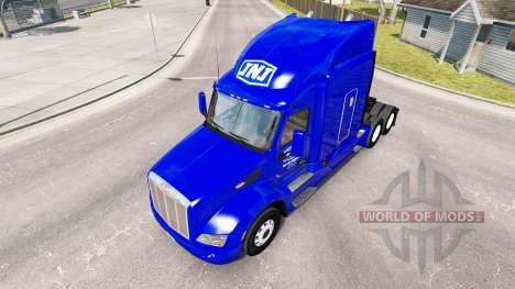 La peau JNJ Express Inc. le tracteur Peterbilt pour American Truck Simulator