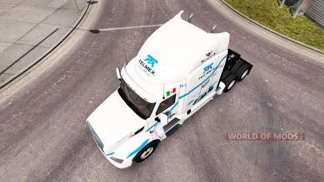 Telmex skin für den truck Peterbilt für American Truck Simulator