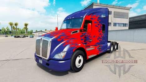 De la peau pour Optimus Prime camion Kenworth pour American Truck Simulator