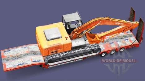 Low sweep, mit der Last des Baggers für Euro Truck Simulator 2