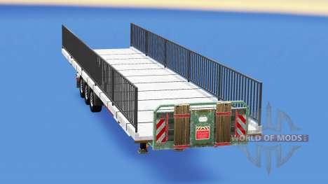 Semi-sol avec le poids de l'élément du pont pour American Truck Simulator