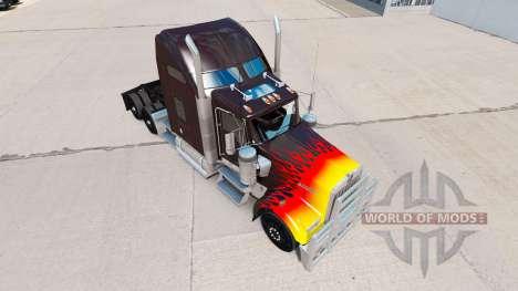 HotRod de la peau pour le Kenworth W900 tracteur pour American Truck Simulator