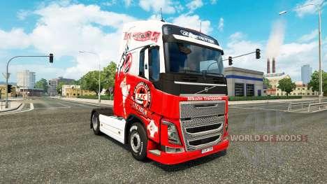 De la peau 1. FC Cologne chez Volvo trucks pour Euro Truck Simulator 2