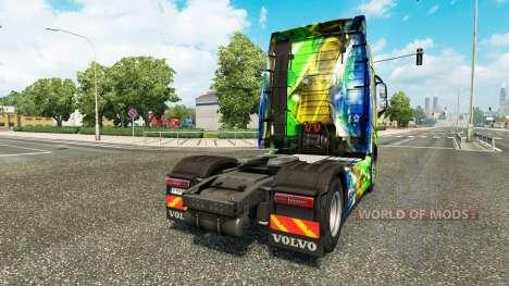 Brasil 2014 peau v3.0 pour Volvo camion pour Euro Truck Simulator 2