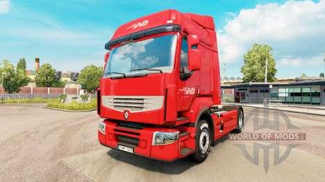 Norbert Dentressangle Haut für Renault-LKW für Euro Truck Simulator 2