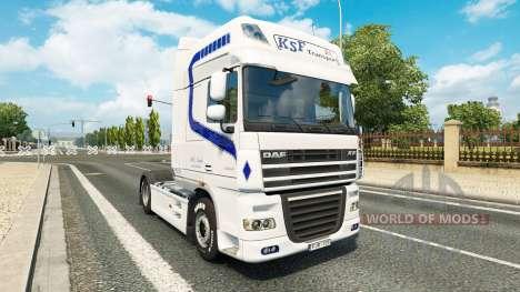 KSF Transport skin for DAF truck für Euro Truck Simulator 2