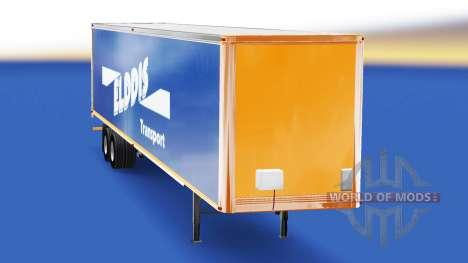 Haut Elddis Transport auf semi-trailer für American Truck Simulator