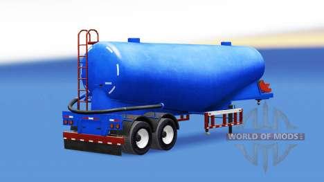 Blaue Farbe für Zement semi-trailer für American Truck Simulator