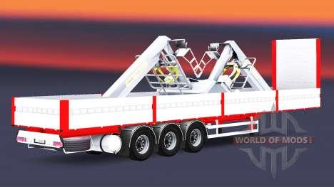Flachbett-Auflieger Kogel für Euro Truck Simulator 2