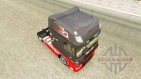 Gris Rouge de la peau pour DAF camion pour Euro Truck Simulator 2