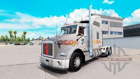 Скин Rire de Démon Métallique на Kenworth T800 pour American Truck Simulator
