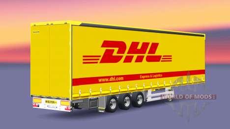 Semitrailer Wielton DHL pour Euro Truck Simulator 2