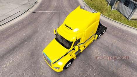 Penske de la peau pour le camion Peterbilt pour American Truck Simulator