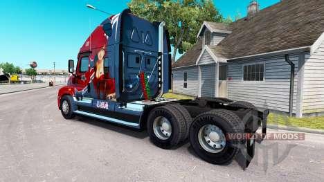 La peau Mandy au tracteur Freightliner Cascadia pour American Truck Simulator
