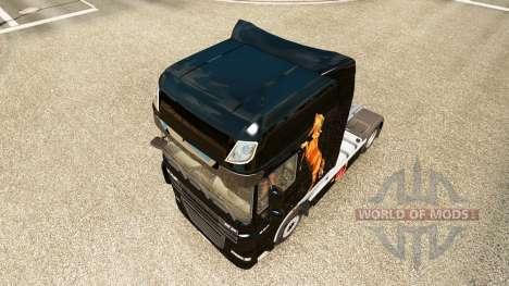 Caballos de la peau pour DAF camion pour Euro Truck Simulator 2