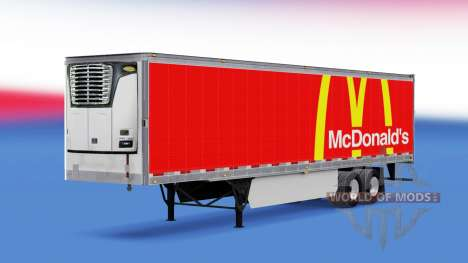 La peau McDonalds sur la remorque pour American Truck Simulator