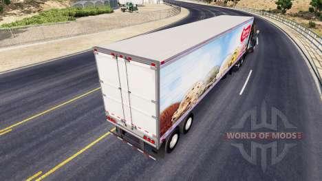 Haut Perry Ice-Cream auf den Anhänger-der Kühlsc für American Truck Simulator
