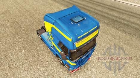 Wittwer de la peau pour Scania camion pour Euro Truck Simulator 2