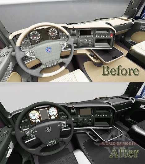 Die Dunkle Linie Exklusives Interieur für Scania für Euro Truck Simulator 2
