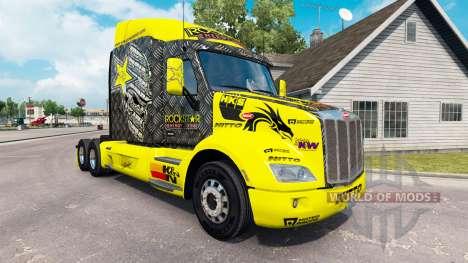 Rockstar Energy skin für den truck Peterbilt für American Truck Simulator