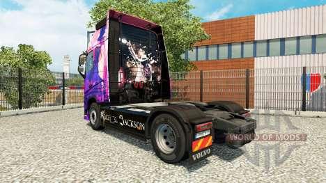Michael Jackson peau pour Volvo camion pour Euro Truck Simulator 2