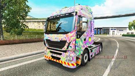 Haut Psychedelischen auf das LKW-Iveco für Euro Truck Simulator 2