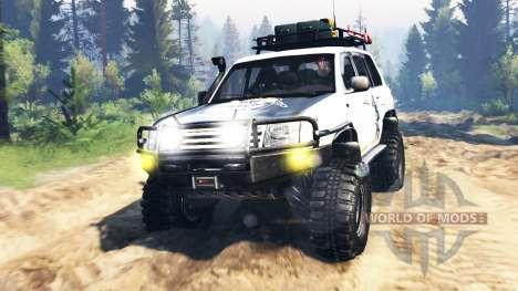 Toyota Land Cruiser 100 2000 [Samuray] v3.0 pour Spin Tires