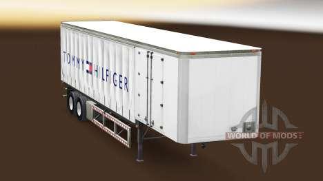 La peau de Tommy Hilfiger sur un rideau semi-rem pour American Truck Simulator