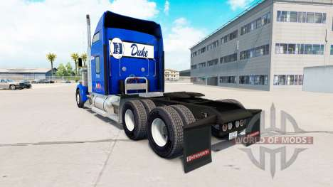 Скин Duke University Pride v1.02 на Kenworth für American Truck Simulator