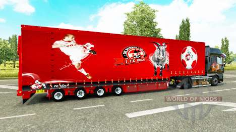 Krone Vorhang semi-trailer-1. FC Koln für Euro Truck Simulator 2
