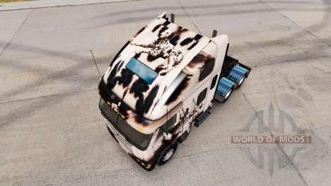 Скин Retravaillé Dalmatin на Freightliner Argosy pour American Truck Simulator