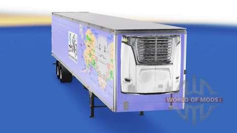 La peau de l'Alaska pour les semi-frigorifique pour American Truck Simulator