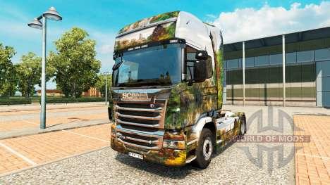 Haut Central Park für LKW Scania für Euro Truck Simulator 2