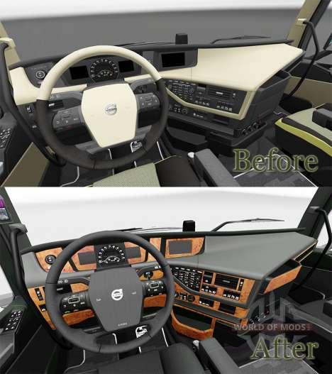 Darkline intérieur Exclusif pour Volvo pour Euro Truck Simulator 2